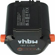 vhbw Li-Ion batterie 2500mAh (18V) pour jardinage