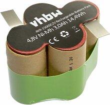 vhbw NiMH Batterie 3000mAh (4.8V) pour aspirateur,