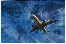 vhg8dweh Puzzles 1000 pièces,Avion avec Carte du