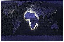 vhg8dweh Puzzles 1000 pièces,Carte Afrique Carte
