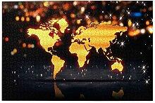 vhg8dweh Puzzles 1000 pièces,Carte du Monde Fond