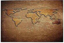 vhg8dweh Puzzles 1000 pièces,Carte du Monde sur