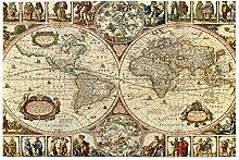 vhg8dweh Puzzles 1000 pièces,Fond de Carte du
