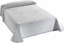 Viantala Couvre-Lits Coton/Polyester Blanc 180 x