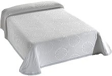 Viantala Couvre-Lits Coton/Polyester Blanc 200 x