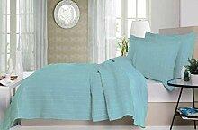 Viantala Couvre-Lits Coton/Polyester Bleu Eau 235