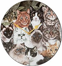 Viceni Horloge Murale Chat 30 cm Multicolore