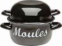 Victor Marmite à Moules émaillée, Noir