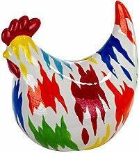 Vidal Regalos Tirelire décorative poule colorée