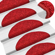 vidaXL 15 pcs Tapis d'escalier Rouge 56 x 20 cm