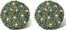 vidaXL 2 pièce de Boule 35 cm avec Guirlande