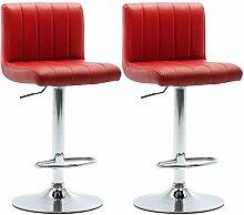 vidaXL 2X Tabourets de Bar Chaise de Comptoir