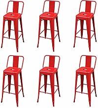 vidaXL 6X Tabourets de Bar Chaise de Comptoir