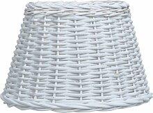 Vidaxl - Abat-jour Osier 45x28 cm Blanc
