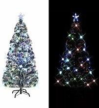 vidaXL Arbre de Noël Artificiel et Support LED
