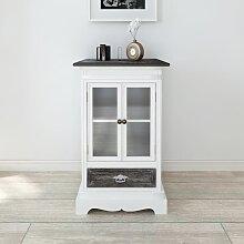 vidaXL Armoire 2 portes et 1 tiroir Blanc Bois