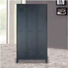 Vidaxl armoire à casiers métal style industriel