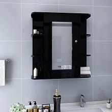 vidaXL Armoire à miroir de salle de bain Noir
