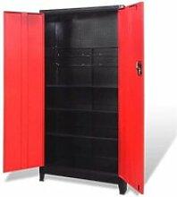 Vidaxl armoire à outils avec 2 portes acier