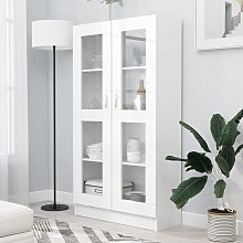vidaXL Armoire à vitrine Blanc 82,5x30,5x150 cm