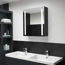 vidaXL Armoire de salle de bain à miroir à LED
