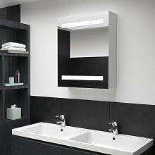 vidaXL Armoire de salle de bain à miroir LED