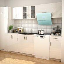 vidaXL Armoires de cuisine 7 pcs avec hotte Blanc