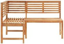 Vidaxl banc d'angle de jardin 140 cm bois