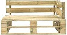 Vidaxl banc d'angle palette de jardin bois