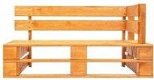 Vidaxl banc palette d'angle de jardin bois
