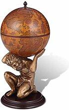 vidaXL Bar Globe Terrestre/Armoire à Vin Atlas