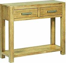 vidaXL Bois de Chêne Rustique Table Console Table