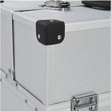Vidaxl boîte à outils 38x22,5x34 cm argenté