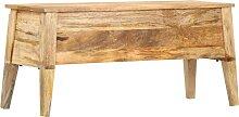 vidaXL Boîte de rangement 99x35x48 cm Bois de