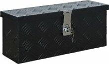 Vidaxl boîte en aluminium 485x140x200 mm noir