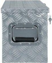 Vidaxl boîte en aluminium 61,5 x 26,5 x 30 cm