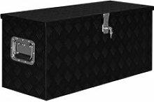 Vidaxl boîte en aluminium 90,5x35x40 cm noir