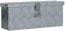 vidaXL Boîte en Aluminium Argenté Chariot à