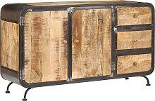 vidaXL Buffet 140 x 40 x 80 cm Bois de manguier