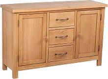 vidaXL Buffet avec 3 tiroirs 110 x 33,5 x 70 cm