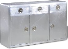 vidaXL Buffet avec 3 tiroirs Style vintage