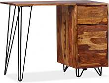 vidaXL Bureau avec 1 tiroir et 1 armoire Bois