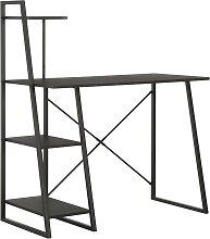 vidaXL Bureau avec étagère Noir 102x50x117 cm