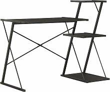 Vidaxl - Bureau avec Étagère Noir 116x50x93 cm