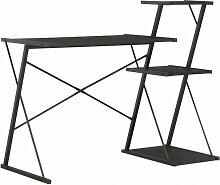 vidaXL Bureau avec étagère Noir 116x50x93 cm