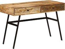 vidaXL Bureau avec tiroirs Bois solide de manguier