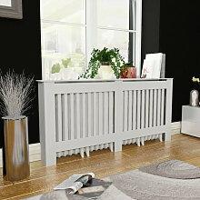 vidaXL Cache-radiateur Blanc MDF 172 cm
