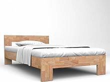 vidaXL Cadre de lit 160x200 cm Bois de chêne