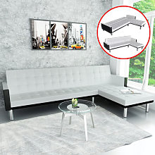 vidaXL Canapé-lit d'angle Cuir synthétique