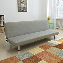vidaXL Canapé-lit Gris Polyester